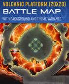 Volcanic Platform - Battle Map (20x20)