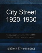 City Street 1920-1930 - from the RPG & TableTop Audio Experts