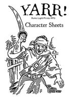 Yarr! Pirate RPG Character Sheets