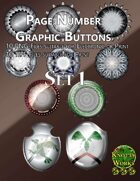 Knotty Works Page Number Buttons Set 1