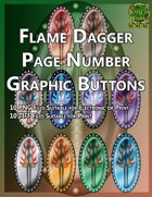 Knotty Works Flamming Dagger Page Number Buttons