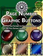Knotty Works Page Number Buttons Set 5