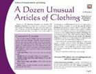 A Dozen Unusual Articles of Clothing