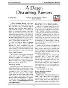 A Dozen Disturbing Rumors
