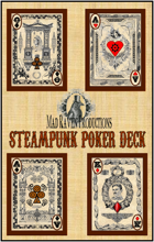 Mad Raven Steampunk Poker Deck