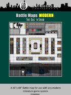 Battle Maps MODERN:  The Gas 'n Grub Convenience Store
