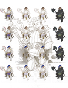 Moddable Stock Art: Armored Axewoman (17 Variants+Source)