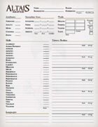 Altais: Age of Ruin - Character Sheet