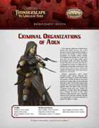 Savage Thunderscape: Aden Gazette 18 - Criminal Organizations