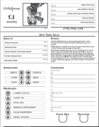Hunter's Guide Pregenerated Character Sheets - Tent-Style