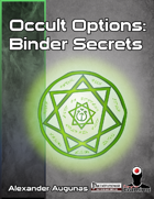 Occult Options 1 — Binder Secrets
