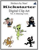 Clip Art by Stan! Vol. 4: Dancing Fools