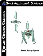 Stock Art: Blackmon Simple Sentry Robots