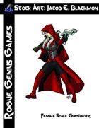 Stock Art: Blackmon Female Space Gunslinger