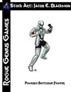 Stock Art: Blackmon Powered Battlesuit Fighter