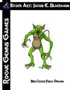Stock Art: Blackmon Bird Lizard Frog Demon