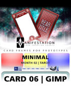 Card 06 - Minimal (Tarot) Gimp | Card Design Template for Prototyping |