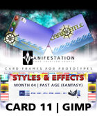 Card 11 - Styles & Effects (Past Age) Gimp | Card Design Border for Prototypes |