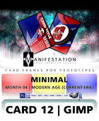 Card 12 - Minimal (Modern Age) Gimp | Card Design Template for Prototyping |