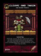 Cleave And Twain - Custom Card