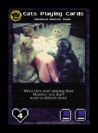 Cats Playing Cards - Custom Card