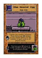 Blue Beaster Egg - Custom Card