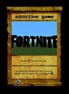 Addictive Game - Custom Card