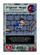 Blue Cape Villain Man - Custom Card