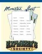 Monster Sheet