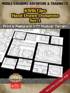 KwikTiles: Hand Drawn Dungeons Set 1