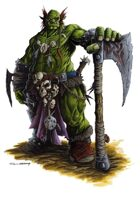 RPG Fantasy Character, Male, Orc Barbarian