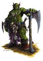 RPG Fantasy Character, Male, Orc Barbarian
