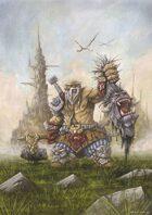 RPG Fantasy Illustration, Male, Dwarf Monster Hunter