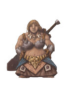 RPG Fantasy Character, Female, Dwarf Warrior