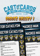 Cast of Cards: Rogues Gallery 1 (Sci Fi/Supers)