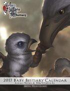 Baby Bestiary 2017 Calendar