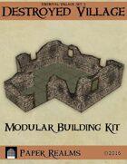 Medieval Village Set 3 - Destroyed Village