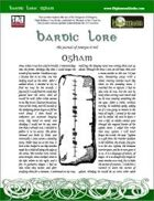 Bardic Lore: Ogham
