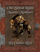 Old School Rules: Monster Modifiers