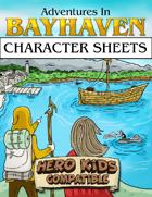 Character Sheets - Hero Kids Compatible