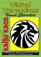 Kaiju Kaos - Wicked Werewolves Stat Cards, Set 01