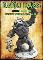 Kaiju Kaos: Fantasy Worlds Stat Cards