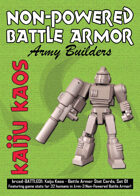 Kaiju Kaos: Non-Powered Battle Armor Stat Cards, Set 01