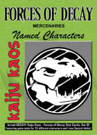 Kaiju Kaos: Forces of Decay Stat Cards, Set 01