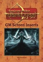 Against the Dark Yogi: GM Screen Inserts