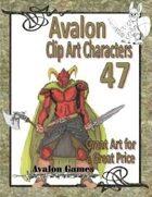 Avalon Clip Art Characters, Dark Warrior 2