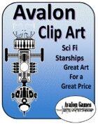 Avalon Clip Art, Starship Icons