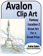 Avalon Clip Art Sets, Fantasy Locations 2
