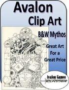 Avalon Clip Art Sets, B&W Mythos