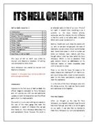 Hell on Earth, Issue 1